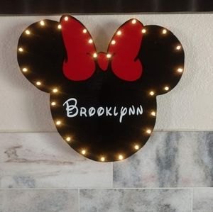 Minnie Mouse Light Up Sign
